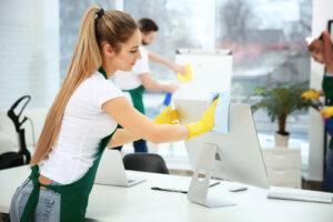 What level of disinfectant should be used in the dental office