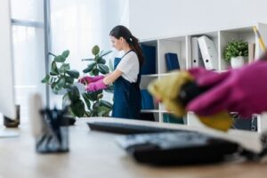 Should employees be expected to clean the office
